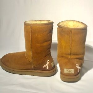 Breast Cancer UGG boots